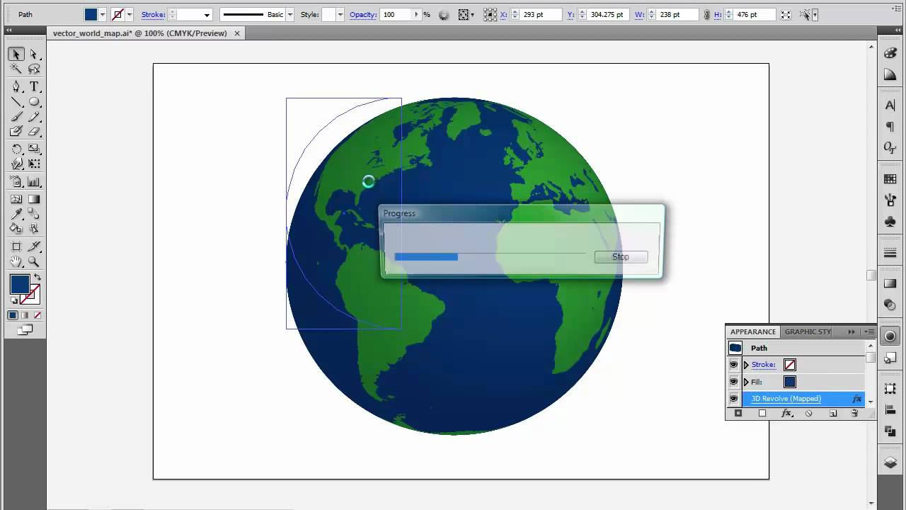 Adobe illustrator tutorial how to create a 3d vector rotatable adobe illustrator tutorial how to create a 3d vector rotatable globe desktop publishing tips gumiabroncs Images