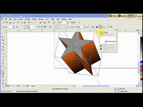 Using extrude tool effectively with CorelDraw: Video