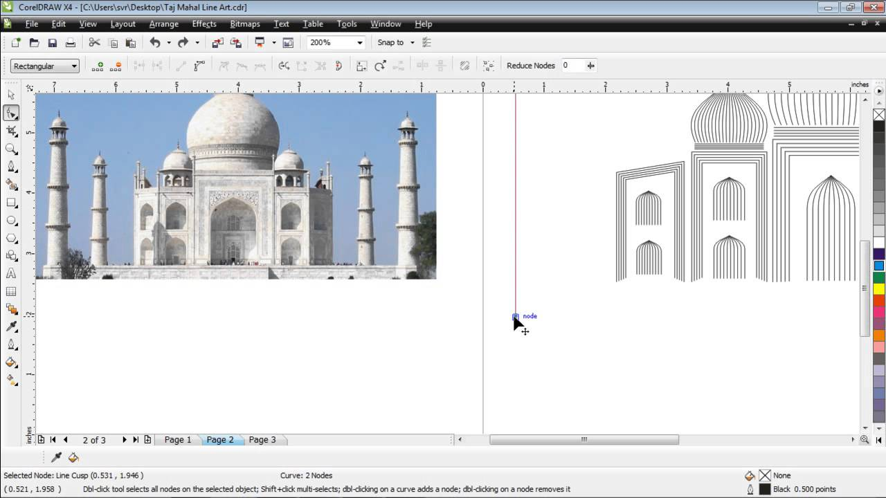 ushared art of taj mahal in corel draw desktop publishing tips